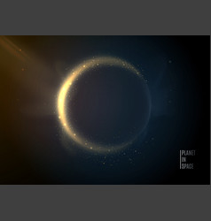 Planet in space background universe stars vector