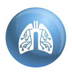 Pneumonia lungs icon simple style vector