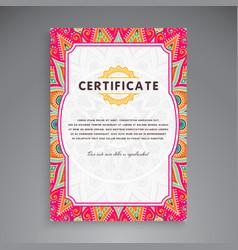 Professional certificate template design vector