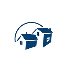real estate logo property and construction logo vector image