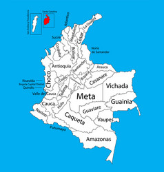 Region map archipelago santa catalina colombia vector