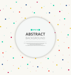 round space of text in colorful splash dot vector image