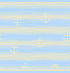 seamless pattern with anchors vector image