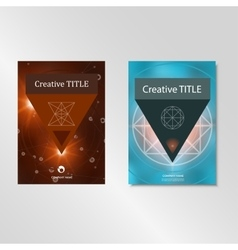 Set abstract colorful template collection brochure vector image