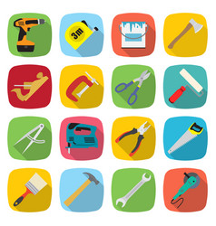 Set of industrial tools and equipment colored vector