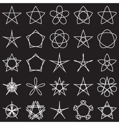 set stars geometric shapes vector image