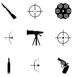 shooting range icon set vector image