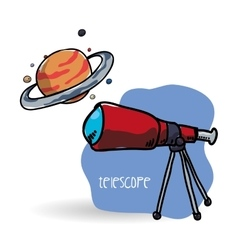 Space design science icon Isolated vector image