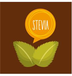 stevia natural sweetener vector image