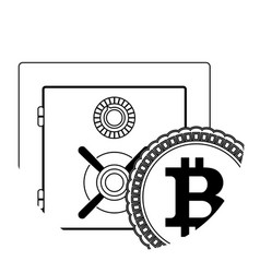 storage crypto coin vector image