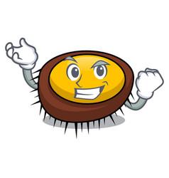 Successful sea urchin character cartoon vector