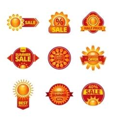 Summer sale labels set vector image