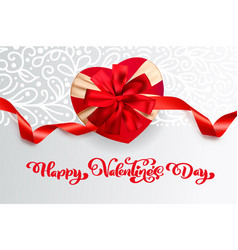 text happy valentines day typography design vector image