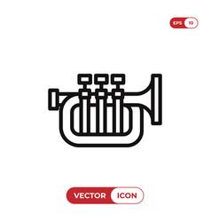 trumpet icon vector image
