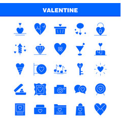 valentine solid glyph icon pack for designers and vector image