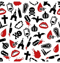 Vampire seamless pattern vector