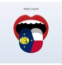 Wake island language abstract human tongue vector