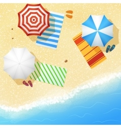 Aerial view of sea sand beach vector image