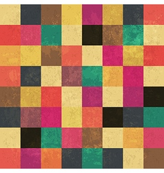 aged color squares pattern seamless vector image