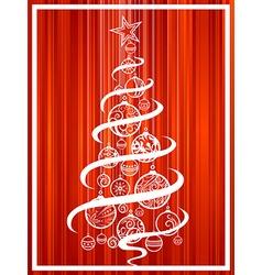 Christmas tree of balls vector image vector image