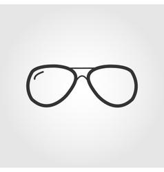 glasses icon flat design vector image