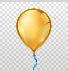Gold balloon vector image vector image