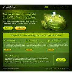 green website template vector image vector image