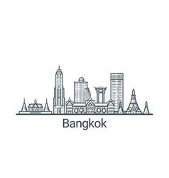 Outline Bangkok banner vector image vector image