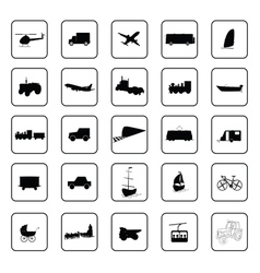 transport icon black vector image