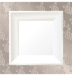white photo frame vector image vector image