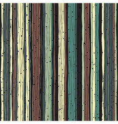 Abstract retro pattern Seamless hand-drawn lines vector image vector image