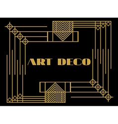 Art deco geometric vintage frame vector image vector image