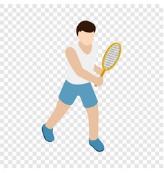 man playing tennis with tennis racket icon vector image