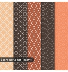 Seamless patterns Ornamental set vector image