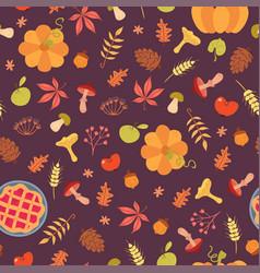 simple food seamless pattern vector image