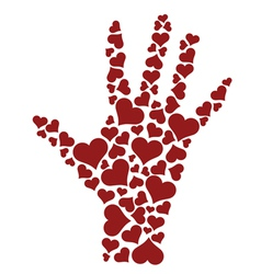 Heart hand vector image vector image