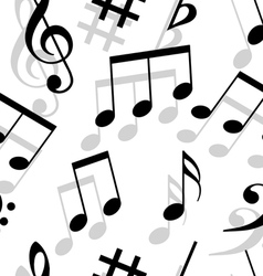 music notes seamless wallpaper vector image vector image