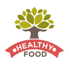 healthy food product label or isolated icon vector image vector image