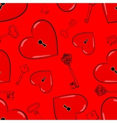 Heart and keys vector image vector image