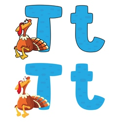 letter T turkey vector image vector image