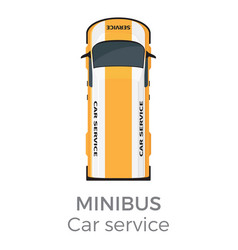 minibus car service means of transport isolated vector image