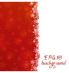 Red Christmas pattern with snowflakes vector image vector image