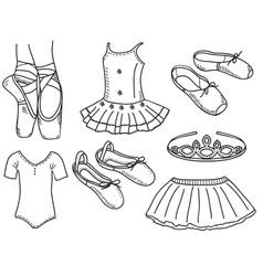 Set of ballerina accessories vector image