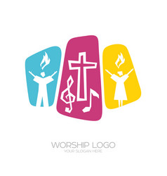 Worship of the lord jesus christ vector