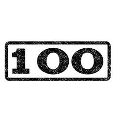 100 watermark stamp vector image