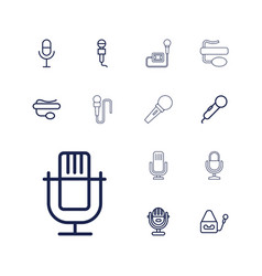 13 vocal icons vector
