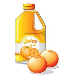 A gallon orange juice vector