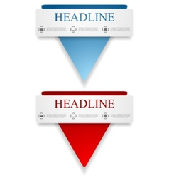 Abstract banners with triangle shape vector image