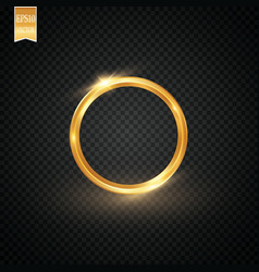 abstract sparkling golden frame light effect on vector image