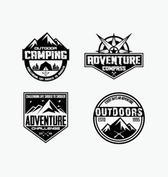 adventure logo badges 1 vector image